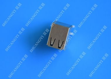 China DIP Foot 4 Pin AF Type Double USB Charging Connector Female For PCB supplier