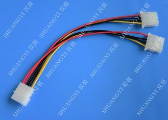 China Molex 4 Pin To Molex 4 Pin Cable Harness Assembly Pitch 5.08mm For Computer 200mm supplier