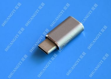 5 Gbps Type C Micro USB , USB C to Micro USB Female Connector For Google Chromebook Pixel