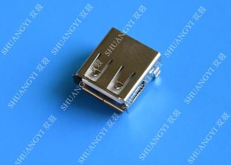 Mini SMD AF Type USB Charging Connector , USB 2.0 4 Pin USB Connector