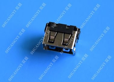 China USB 2.0 A Type Female Micro USB Connector Short Body 90 Degree 4 Pin supplier