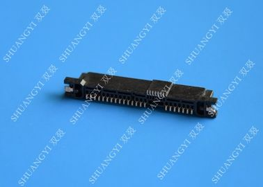 Rectangle Small SATA Data Connector 29 Pin Brass Contact For Communication