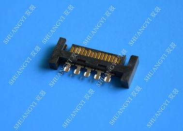China PCB Slimline SATA Connector Voltage 125V AC Small Footprint Design supplier