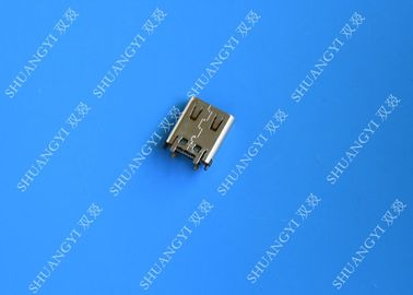 China Electrical SMT DIP 24 Pin USB Connector USB 3.1 Type C Female 10000 Cycles supplier