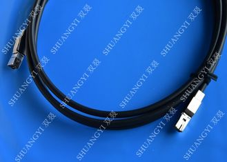 3.3FT External SAS Cable HD Mini SAS SFF-8644 To SFF-8644 Cable 1M / Black