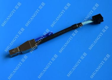0.3 M Black Serial Attached SCSI Cable External HD Mini SAS SFF-8643 To SFF-8644 Cable