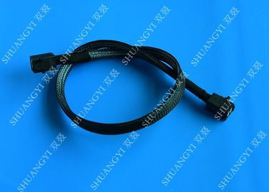 China HD Mini SAS Cable With Sideband 0.8 Meter / 2.6ft Foldable Flexible 2 Pack supplier