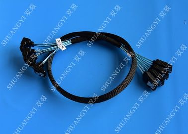 China 8 Inch SATA III 6.0 Gbps 7 Pin Female To Female Data Cable With Locking Latch Blue supplier